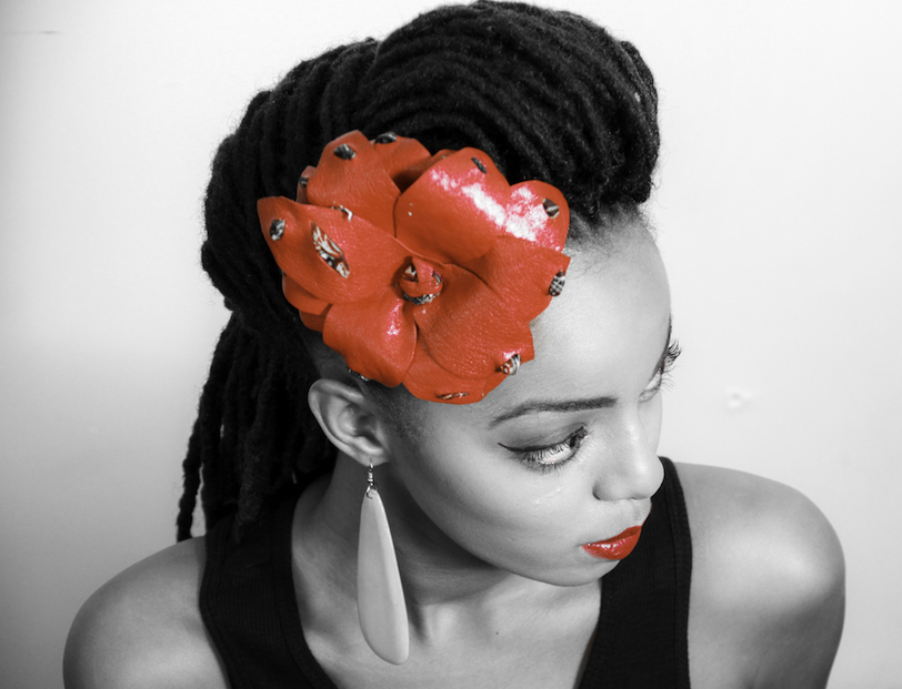 locs with flower in hair atlanta loctician2