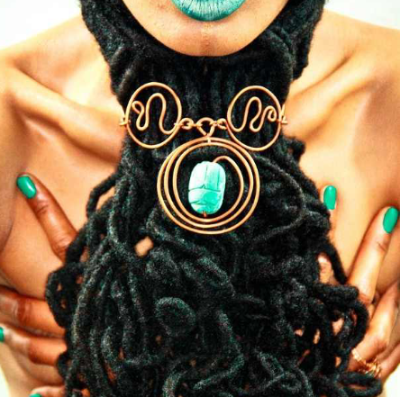 locs wrapped around neck